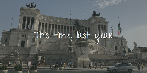 I was Rome-ing inItaly
